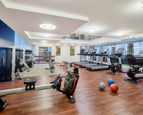 Interior fitness center
